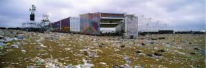 stadium before clean up