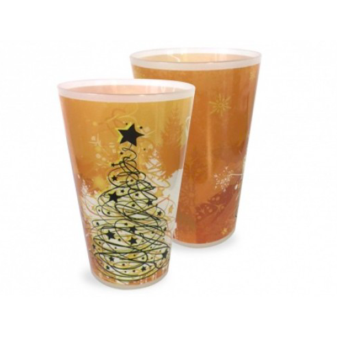 Printed Christmas Party Glasses With Company Logo or Branding