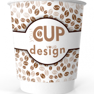 8oz Printed Paper Eco-Coffee Cups | Double Walled | Full Colour Wrap Print