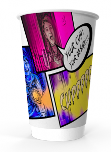 16oz Printed Paper Eco-Coffee Cups | Double Walled | Full Colour Wrap Print