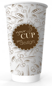 20oz Printed Paper Eco-Coffee Cups | Double Walled | Full Colour Wrap