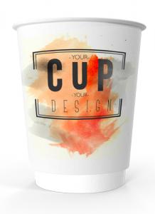 Takeaway printed coffee cup