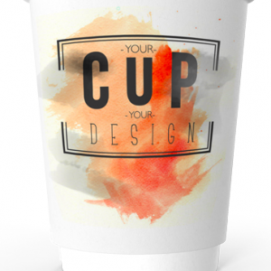 12oz Printed Paper Eco-Coffee Cups | Double Walled | Full Colour Wrap Print
