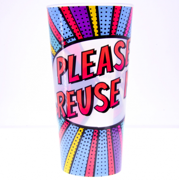 Re-useble printed event cup