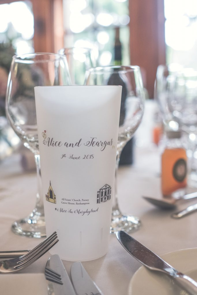 Printed Wedding Cups