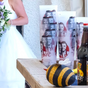 Custom Printed Wedding Pint Cup