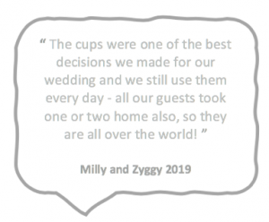 Quote wedding cups
