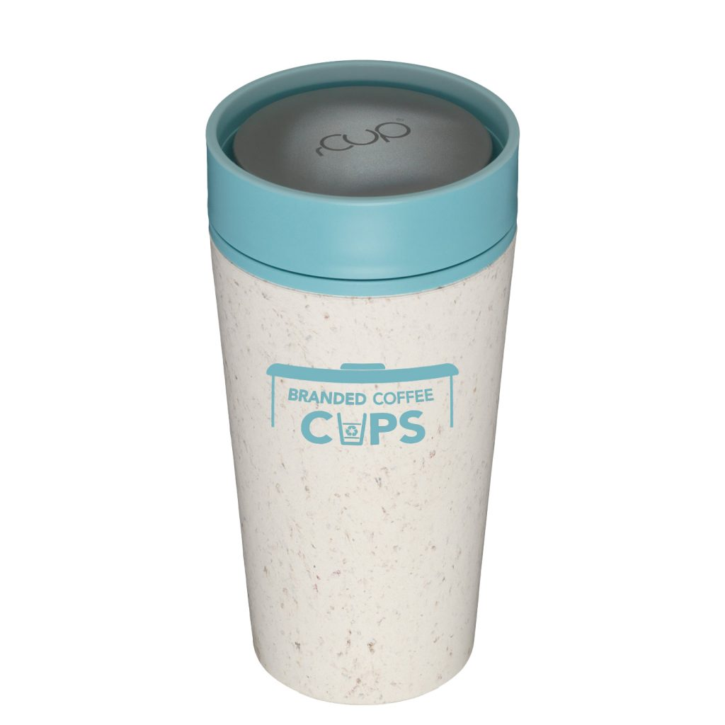 rCup 12 ounce Cream and Teal