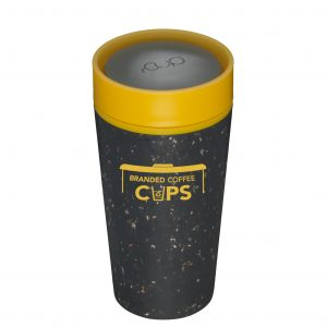 rCup 12 ounce Black and Yellow