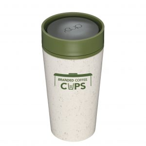 rCup 12 ounce Green and Cream