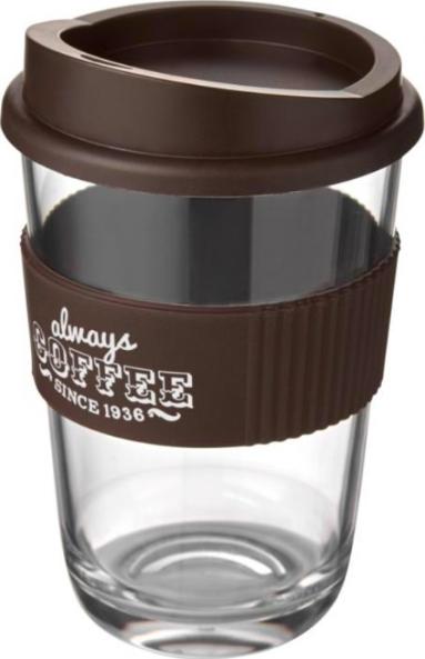 Brown Printed Coffee Cup
